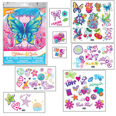 Glitter 4 Girls Temporary Tattoos by SAVVi