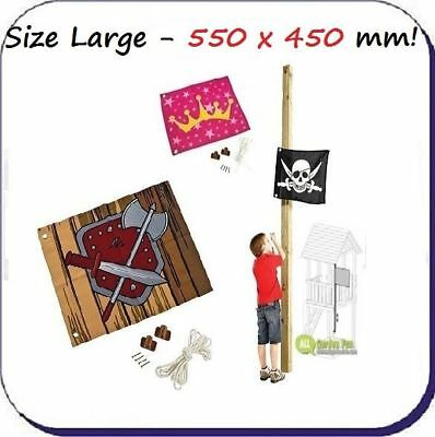 Flag With Hoist For Kids Childrens Outdoor Climbing Frame 450 x 540mm FREE P&P !