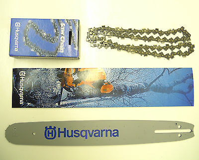 "Husqvarna Chainsaw Guide Bar And Chain 15"" Pixel Fits  350 435 440 445 450 Etc"