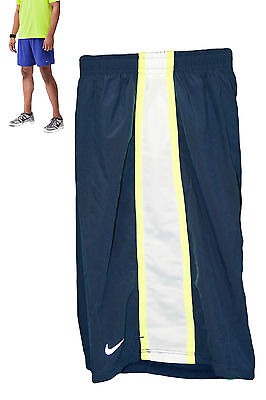 New NIKE Boys Lightweight Ventilated Dri-Fit RUNNING SHORTS Blue M Age10-12 Year
