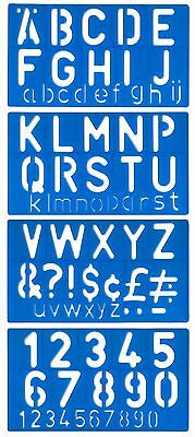 Alphabet Stencil Signwriting Template 50mm Upper Lower Case numbers & letters