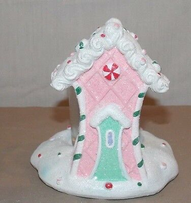 NEW YANKEE CANDLE HOLIDAY CHRISTMAS GINGERBREAD HOUSE VOTIVE CANDLE HOLDER 5""