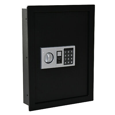 Steel Wall Mounted Digital Safe Storage Box W/ Theft Lock Home Office Security