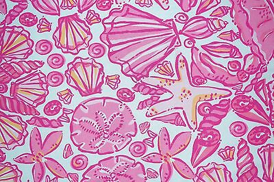 New Lilly Pulitzer Fabric ~ Pink Sailor Valentine ~ 1 yard