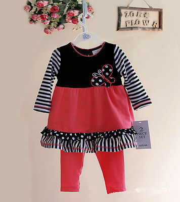Little Baby Girl Clothes 2 Piece Set Spring Autumn Suit Outfit Size 3 Months-3T