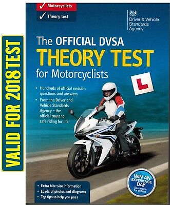 The Official DSA Theory Test for Motorcycle 2018 Book Motorbike DVLA DVSA *MtrBk