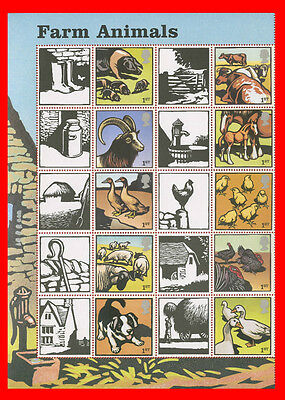 2005 SG. LS22 Farm Animails Half Sheet with 10 Labels