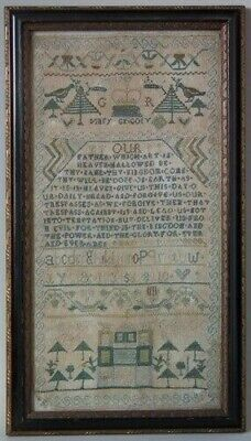 Antique Sampler, 1756 Lords Prayer Sampler by Mary Gregory