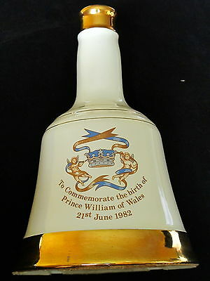 Bell's Whisky Decanter to Commemorate the Birth of Prince William of Wales 1982
