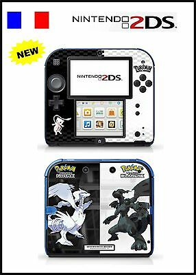 Skin Sticker Autocollant Deco Pour Nintendo 2Ds Ref 130 Pokemon N&b