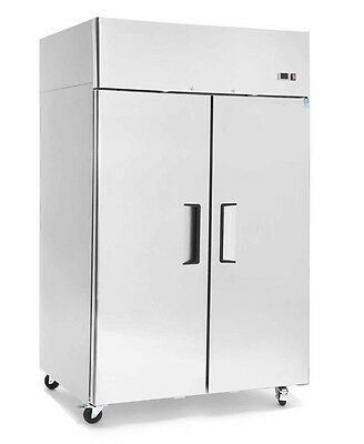 ChefsFirst Solid 2 Door Upright Top Mount Reach-In Commercial Refrigerator