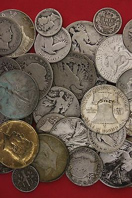 Preppers Survival 1 Standard Ounce of 90% Silver US Junk Coins 1 Half Included