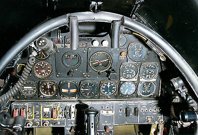 8x12 Vintage Military Aircraft Left cockpit of North American F-82B