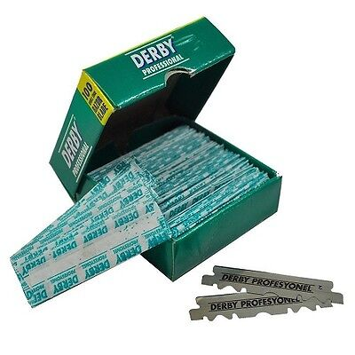 100 pcs Derby Single Edge Razor Blades for Straight Shaver - FAST Shipping