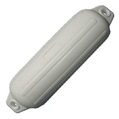 1 X 560mm BOAT FENDER / BUFFER Heavy Duty White UV Stabilised Twin Eye Ribbed