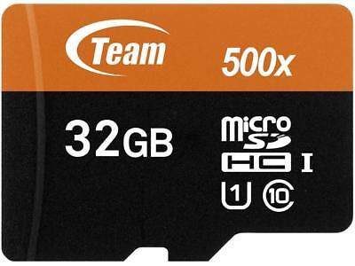 Team 32GB microSDHC UHS-I/U1 Class 10 Memory Card with Adapter, Speed Up to 80MB