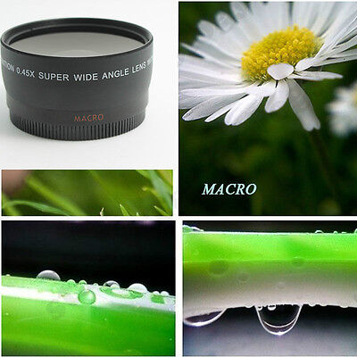 58MM 0.45x Soft Fisheye Wide Angle Macro Lens for canon 550D 650D 450D 600D