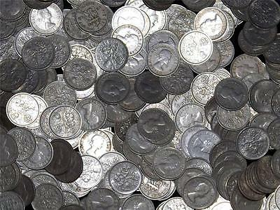 LOT OF 5 1954 ELIZABETH II SIXPENCE 6d COINS -  COLLECTION /BULK - LUCKY XMAS