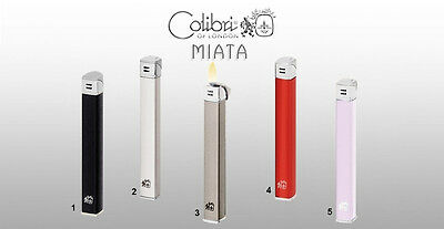Accendino Feuerzeug Lighter slim lady donna Colibri MIATA WZL25 colorato