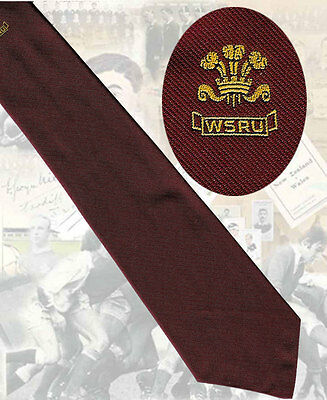 Welsh Schools Rugby Union, circa 1990s -7.5cm RUGBY TIE