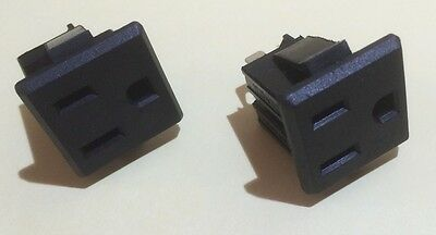 2pcs Panel Mount Receptacle 15A 120V Nema 5-15R Great For Projects!  110v 115v