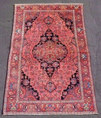 FINE Antique NW Persian MALAYER with Farahan Sarouk Design. Natural Dyes. SUPERB