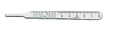 2 Scalpel Handle # 4 With SCALES Surgical Dental Veterinary with 2 #22 blades