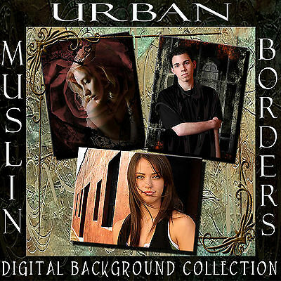 Digital Photography Backgrounds Studio Muslin Backdrops Urban Scenes Borders 1C
