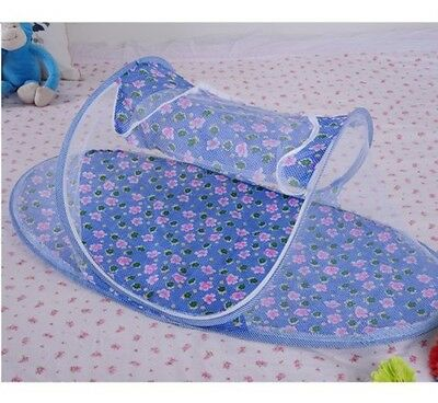 Blue Baby Boy-Instant Pop Up Mosquito Net Crib, Baby Tent, Beach Play Tent, Bed
