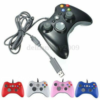 USB Wired Game Remote Gamepad Controller For Microso Xbox 360 & Slim PC Windows