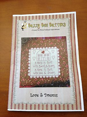 Pre-Printed Stitchery - A House of Love & Dreams - Buzzy Bee pattern