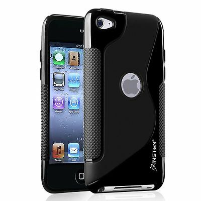 Frost Black S Shape Tpu Soft Hard Case For Apple Ipod Touch 4Th Generation