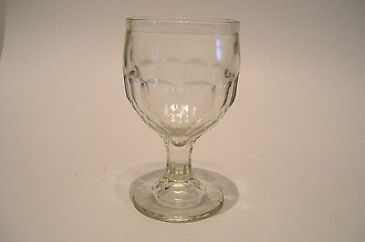 Antique Honeycomb Footed Goblet Pressed Glass EAPG 2 Seam