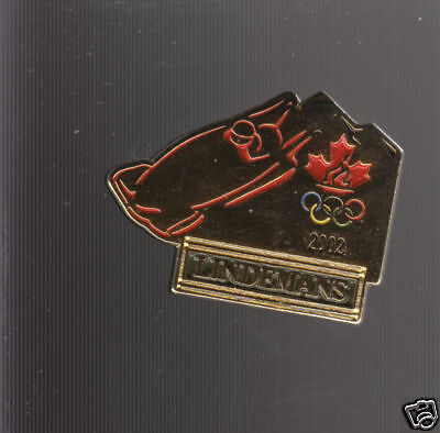 2002 WINTER OLYMPICS Bobsleigh Canada PIN Lindemans