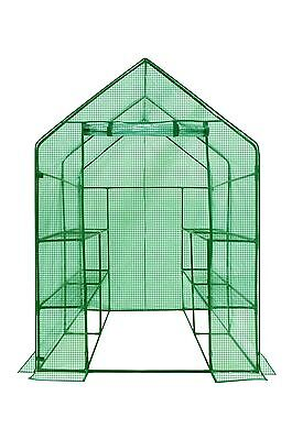WALK-IN 2 Tier 8 Shelf Portable Lawn and Garden Greenhouse - Anchors included!