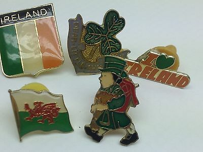 VTG Lot of 5 St. Patricks Day Enamel PINS LAPEL lucky clover Shamrock Irish SP4