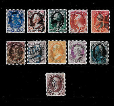 Reproductions of 1870s Fancy Cancel Stamps *Fakes 101