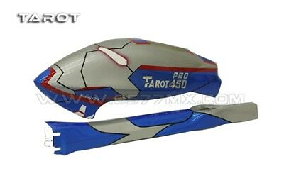 Tarot TL2847 450 Pro HeliCopter / Heli Fuselage / Canopy Blue Iron Man
