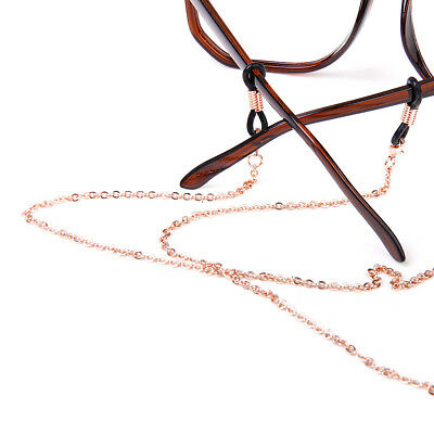 Rose Gold Eyeglass Chain Reading Glasses Eyewear Spectacles Holder Cord Necklace
