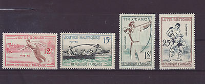 Francia 1958 sport stamps