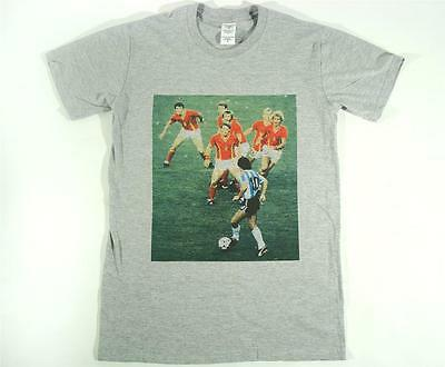 e03a53c97c5 Diego Maradona World Cup Grey T-Shirt Size S-XXXL Football Soccer Panini  messi