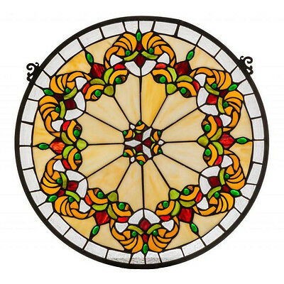Middleton Medallion Stained Glass Window Panel