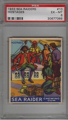 1933 R124 Sea Raiders #10 Psa 6