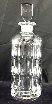 Rare Crystal Decanter Signed by Sven Palmqvist For Orrefors Mid Century Modern