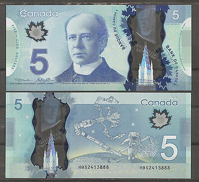 CANADA - BANKNOTE 5 DOLLARS 2013 POLYMER Pick New  UNCIRCULATED