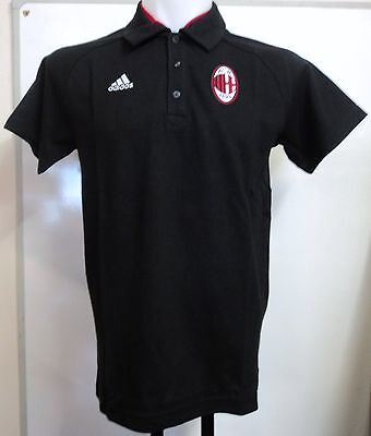 Ac Milan 2012/13 Black Training Polo By Adidas Adults Size Medium Brand New