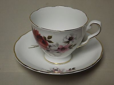 Royal Stafford Honey Bunch Fine Bone China Footed Tea Cup and Saucer England