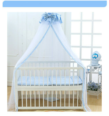 Crown Baby Bed Canopy Drape Mosquito Net Bowknot Holder Cot Crib Mosquito-Proof