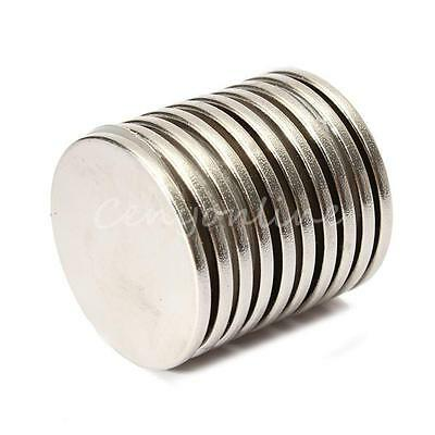 10Pcs 25mm x 2mm N35 Grade Strong Round Disc Disk Earth Neodymium Magnets