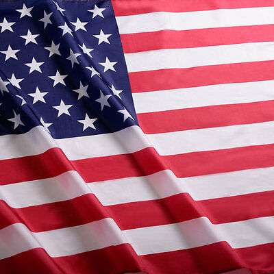 New 3' x 5' FT USA US U.S. American Flag Polyester Stars Brass Grommets